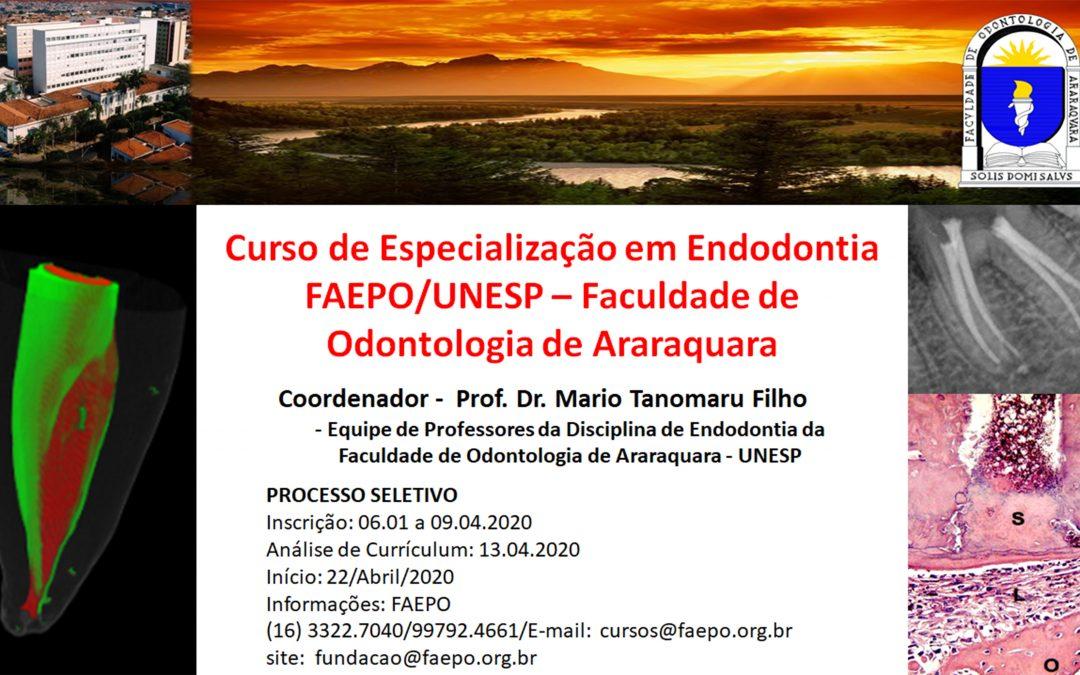 Curso de Especialização em Endodontia.Saiba Mais.